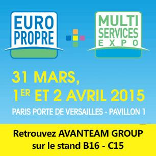 Avanteam group sera pr sent au salon europropre 2015 for Salon porte de versailles 30 mai 2015