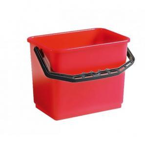Accessoires chariots de  ménage et  lavage Seau rouge 6L