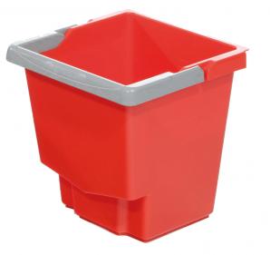 Accessoires chariots de  ménage et  lavage Seau rouge 15L IDEATOP