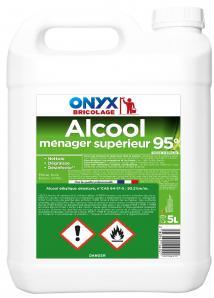 Entretien & nettoyage des surfaces ALCOOL MENAGER SUPERIEUR 95° 5L