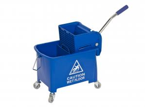 Chariots de lavage Seau de lavage bleu 2x8L avec presse incluse