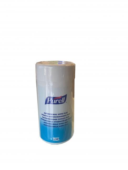Entretien & nettoyage des surfaces LINGETTE ANTIMICROBIENNE PLUS BOITE DE 100(carton de 12 boîtes)