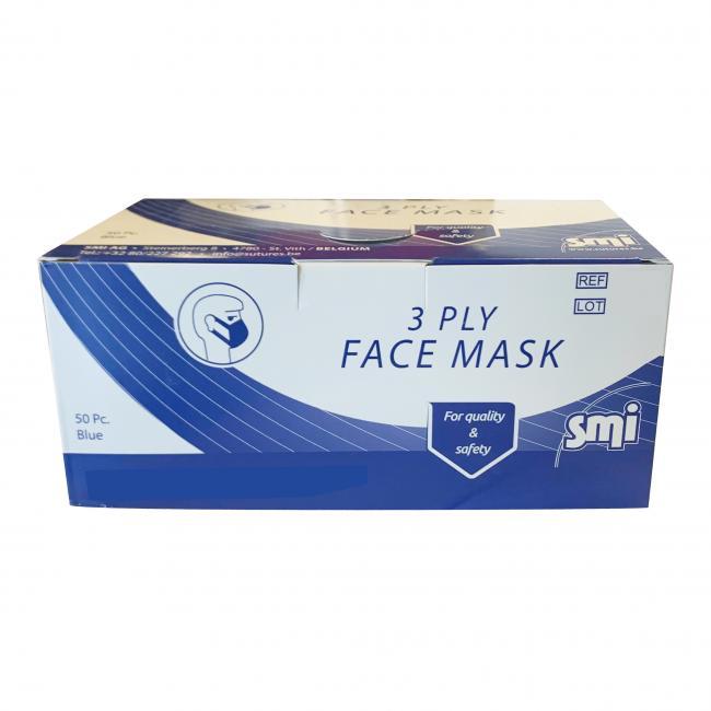 Masques, filtres et galettes  MASQUE NON TISSE 3 PLIS (carton de 50)