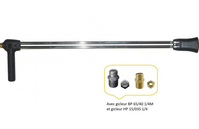 Accessoires HP optionnels Lance demi double 70 tube 1/8 inox raccord M22 NHP 4550