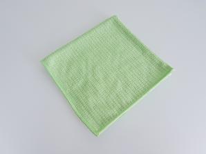 Microfibres et lavettes MICROFIBRE QUADRI GAUFFRÉE 39*39 VERTE