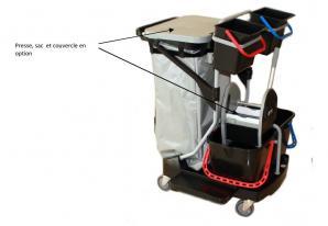 Chariot ménage, lavage et services COMPACT BLACK IS GREEN REVOLUTION (NU SANS PRESSE NI COUVERCLE)