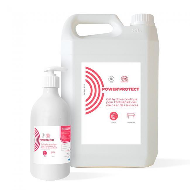 Entretien & nettoyage des surfaces Gel hydroalcoolique POWER PROTECT Ecocert