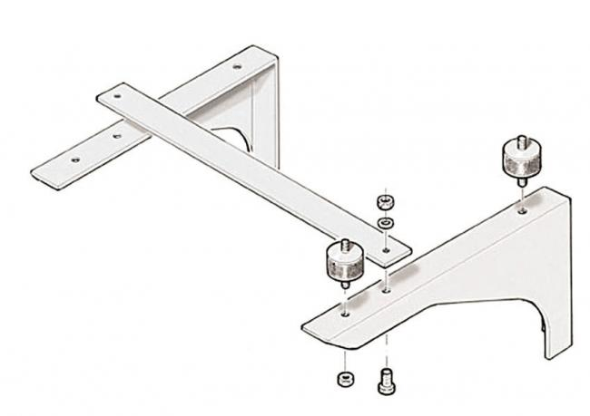Accessoires HP optionnels Support mural acier inox nettoyeur HP poste fixe AR PRO BC 1240 / 42