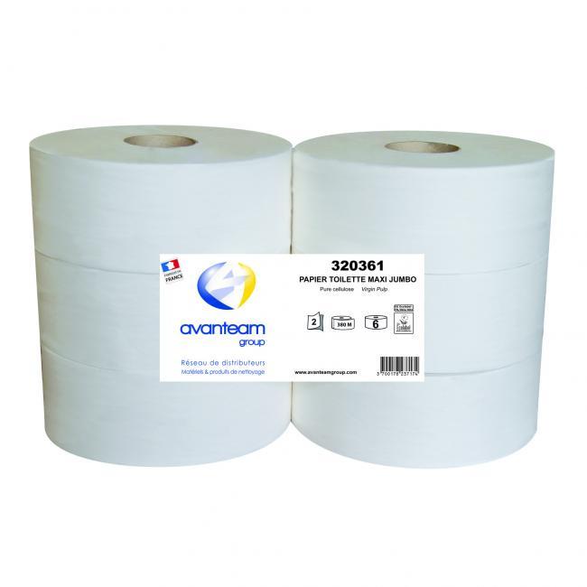 Bobines de papier hygiénique Papier toilette maxi JUMBO 380M