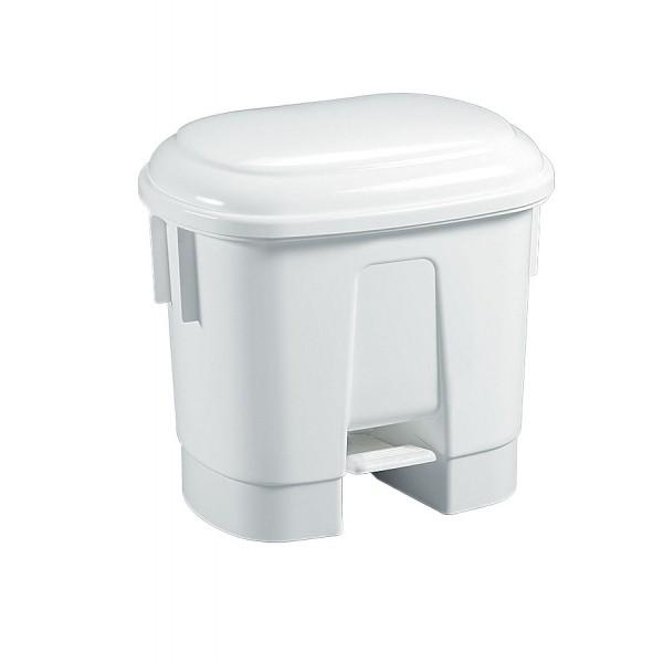 Poubelle p dale avec couvercle blanc 30l filmop - Poubelle brabantia 30l pedale ...