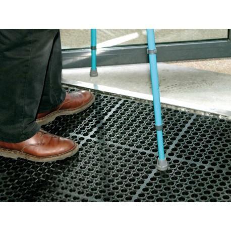 Caillebotis norme handicape 100x150 cm noir tapis avanteam - Tapis caoutchouc antiderapant pour van ...